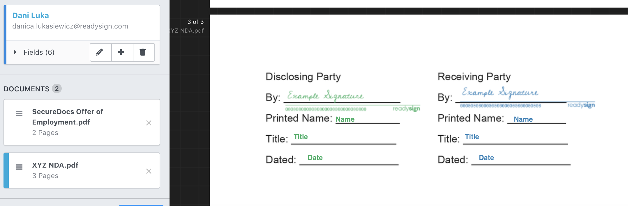 Add any necessary block to any consecutive documents.